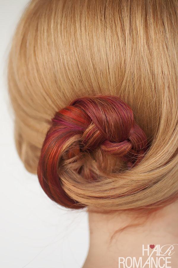Hair Romance - Curved braid bun hairstyle