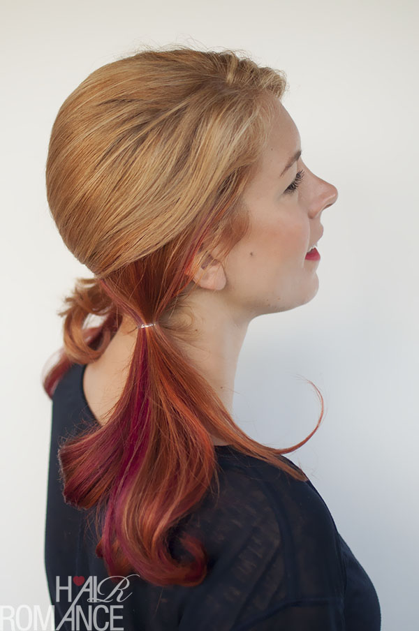 Hair Romance - Hairstyle tutorial for pigtails without a part