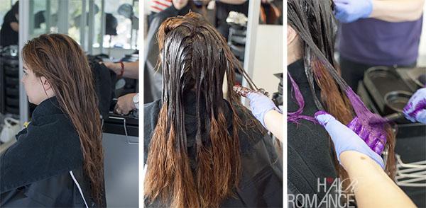 Hair Romance - Schwarzkopf purple ombre hair