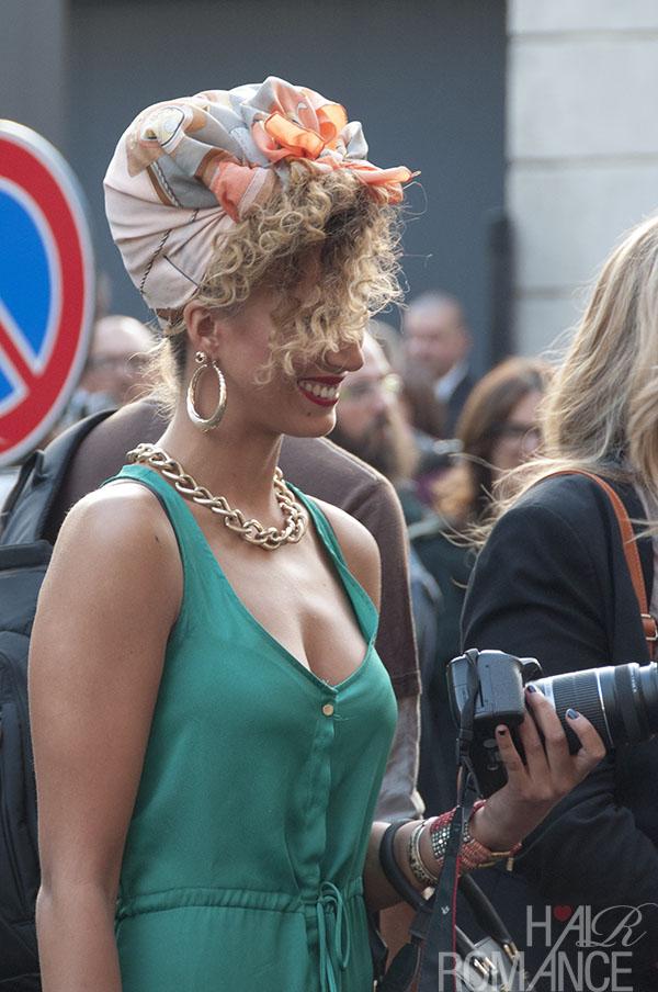 Hair Romance - Street style hair - at Prada - MIlan Fashion Week 2