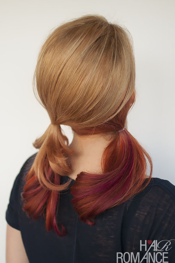 Hair Romance - Tutorial for pigtails without a part
