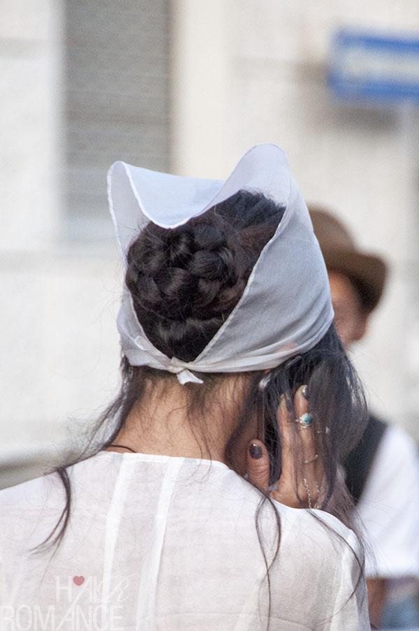 Hair Romance at MIlan Fashion Week - street style hair outside Prada 7