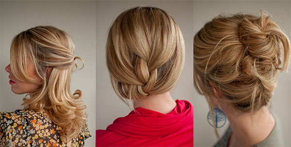 Hair Romance - holiday hair - 30 Days of Twist and Pin