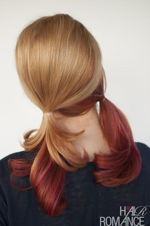 Hair Romance - pigtails without a part