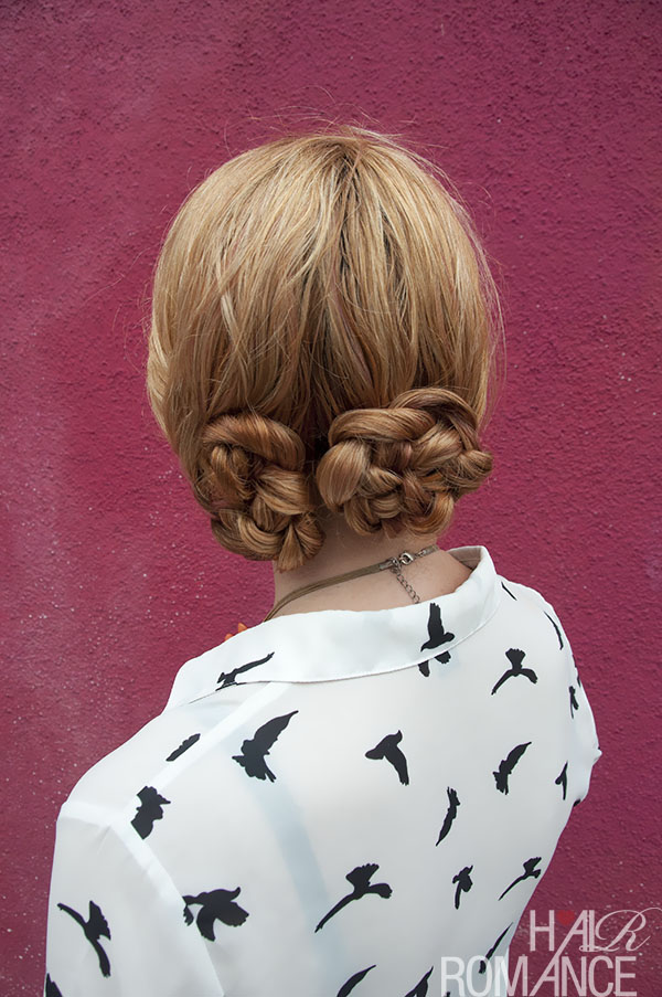 Hair Romance - pretzel braid