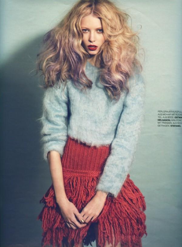 Hair Romance - Big purple hair - Grazia 3