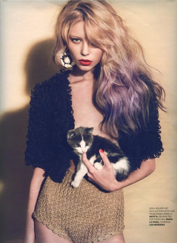 Hair Romance - Big purple hair - Grazia 4