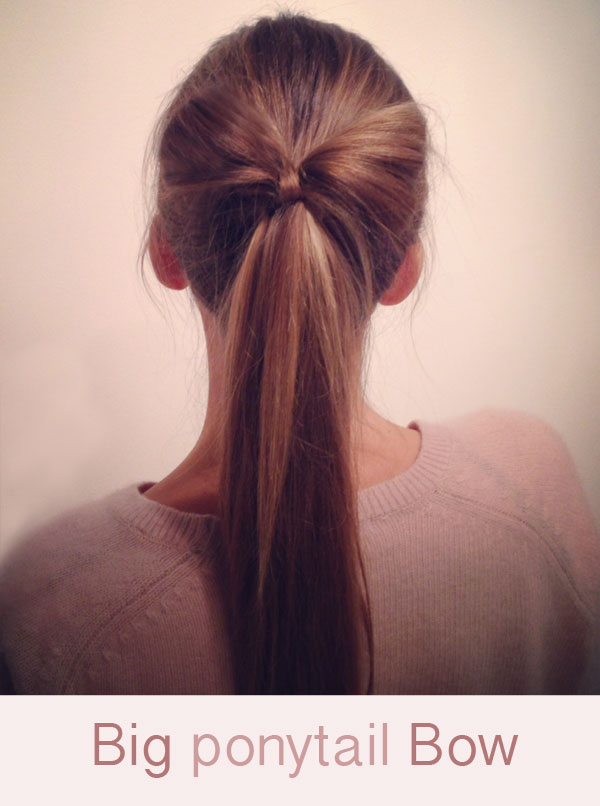 Hairstyle Tutorial Big Ponytail Hair Bow Hair Romance