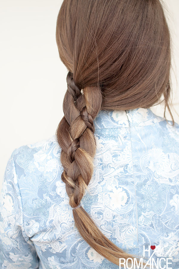 Hair Romance - 4 strand braid with a plaited twist