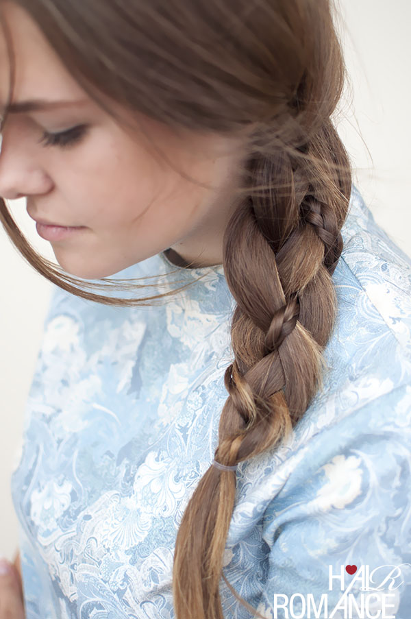 Hair Romance - 4 strand side braid with a twist