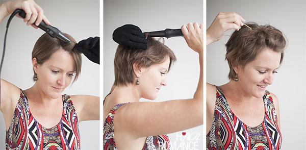 Hair Romance - How to style a pixie cute - the curly pin back