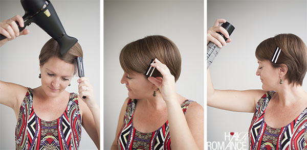 Hair Romance - How to style a pixie cute - the sleek part