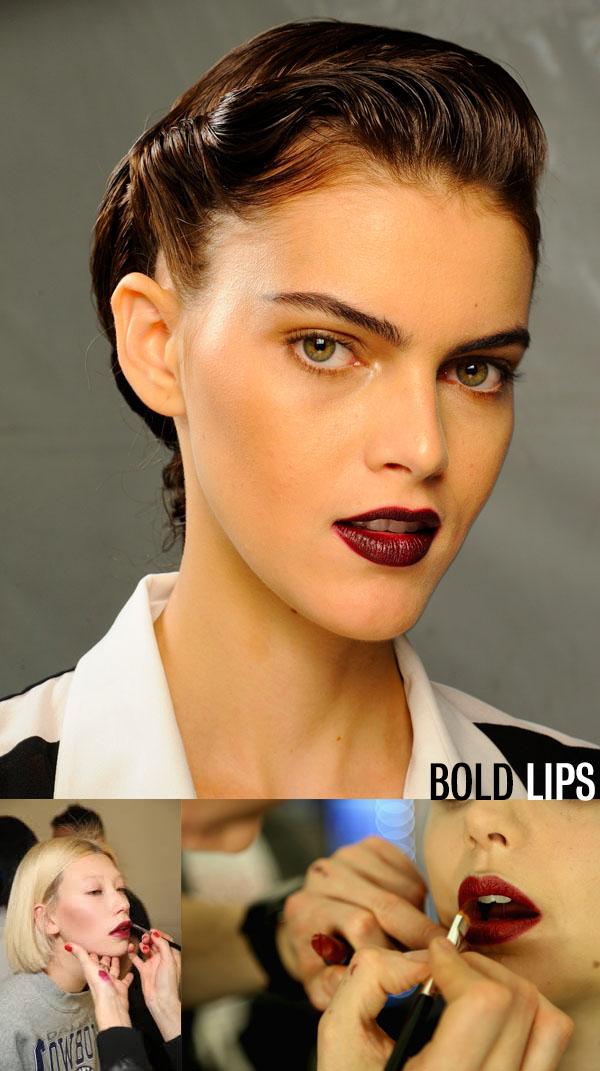 Hair Romance - NYFW beauty trends - bold lips to wear now