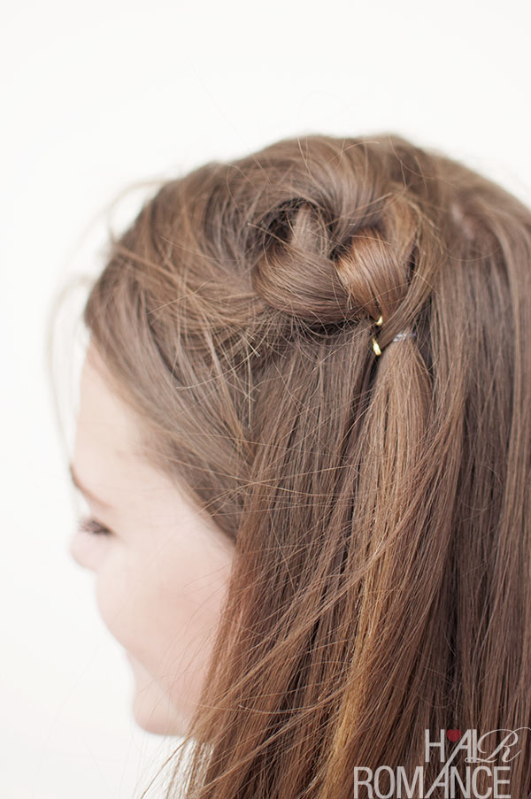 Hair Romance - double knot hairstyle detail