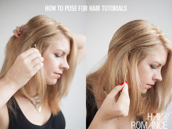 How to pin your hair in hairstyle tutorials - Hair Romance