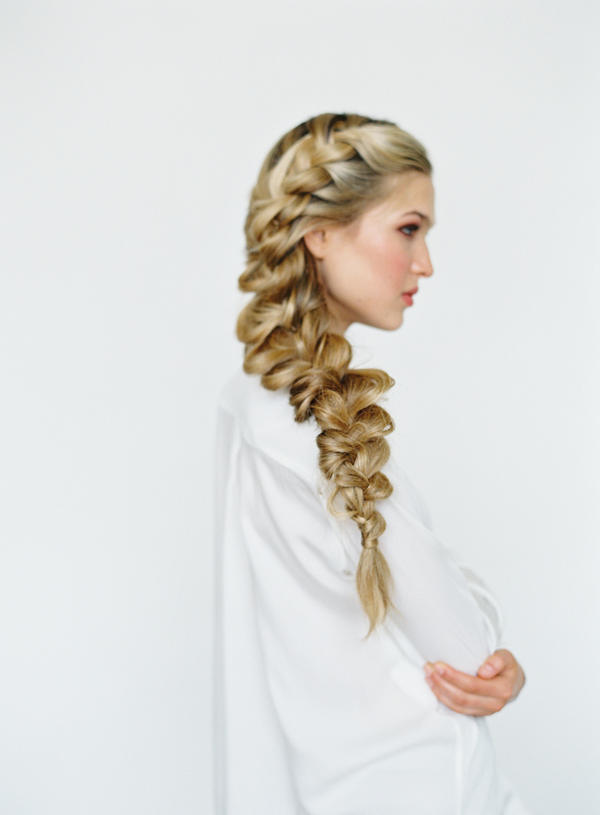 Stunning side braid hairstyle for long hair
