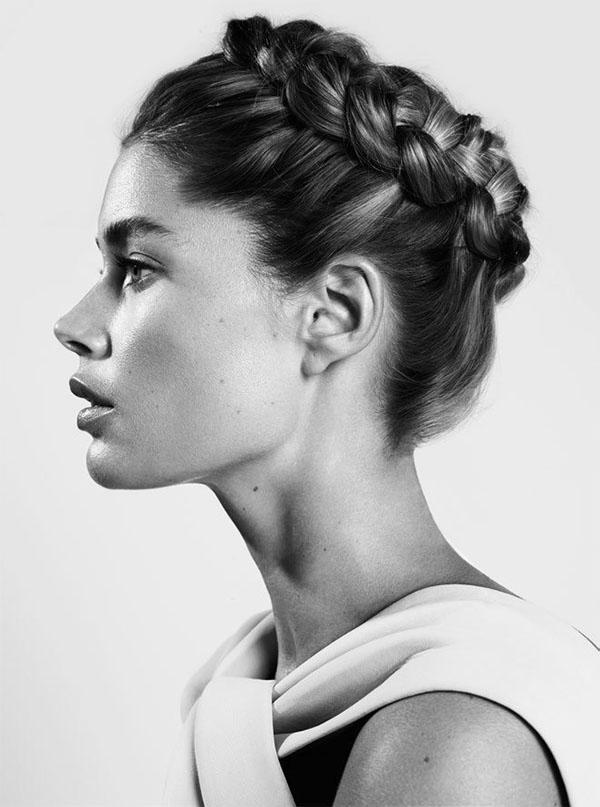 Doutzen Kroes - braided goddess hair