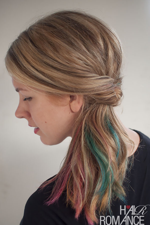 Get Cute Hair In Less Than 1 Minute The Flipped Ponytail Hairstyle