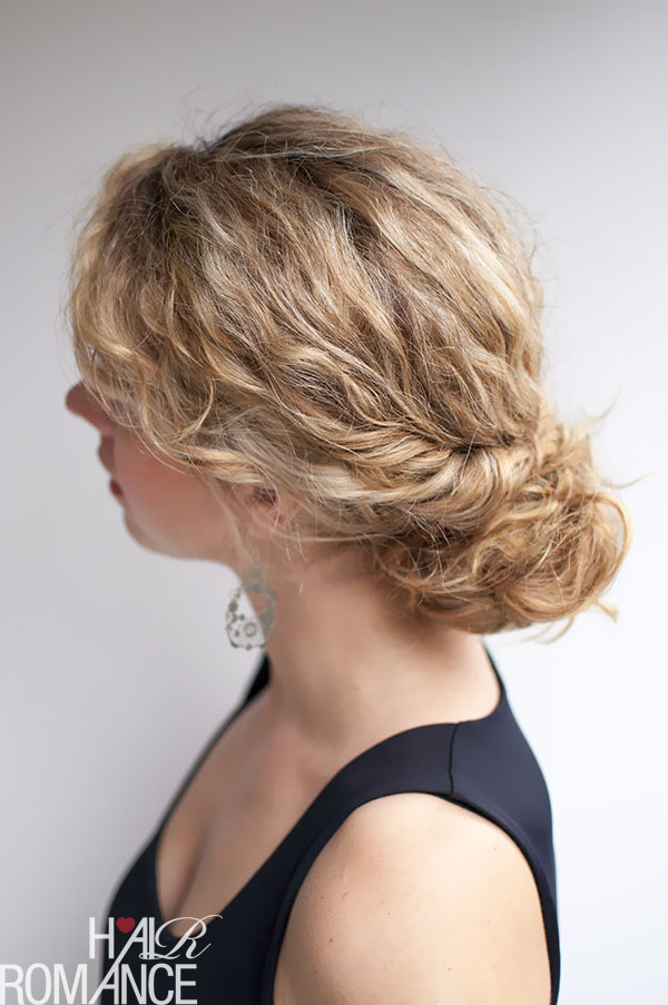 Hair Romance - curly hair tutorial - the twist-tuck bun
