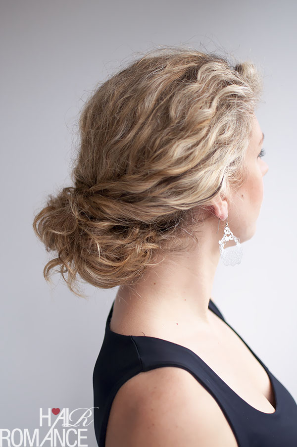 Hair Romance - curly hairstyle - the twist-tuck bun