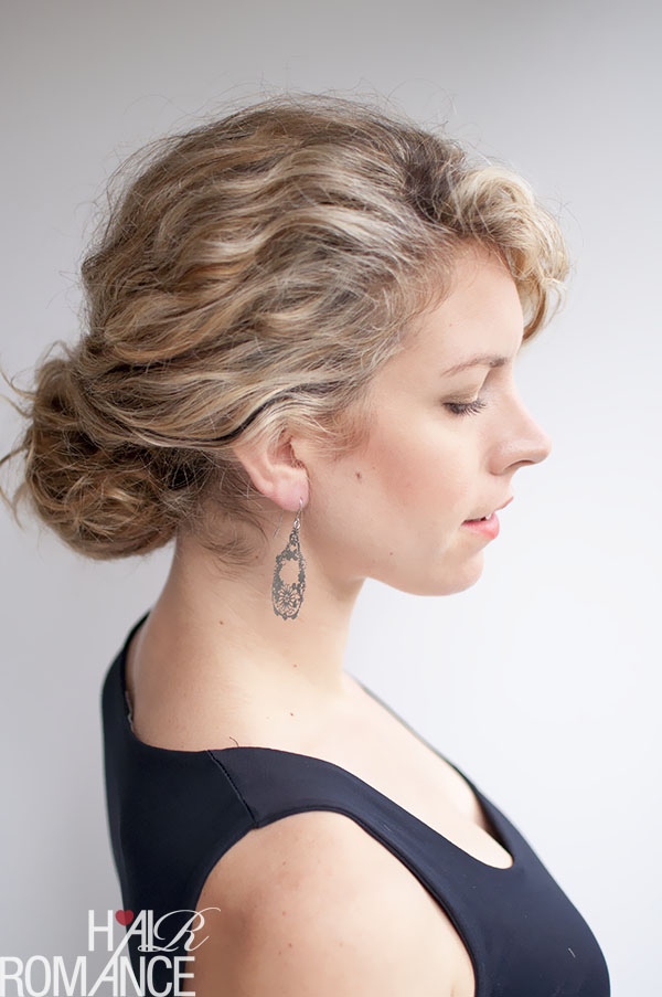 Hair Romance - curly hairstyle tutorial - twist-tuck bun