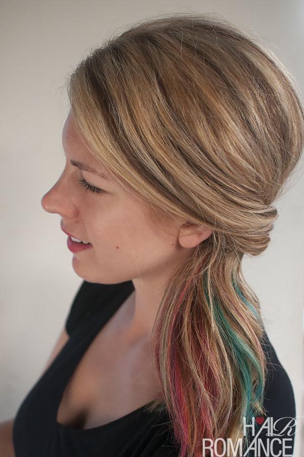 Hair Romance - flipped ponytail tutorial