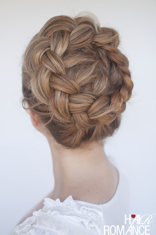Hair Romance - high braided crown hair how-to