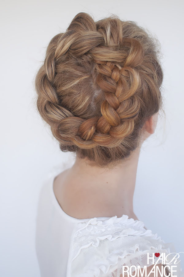 Hair Romance - high braided crown hairstyle how-to