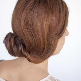 Rolled chignon hairstyle tutorial
