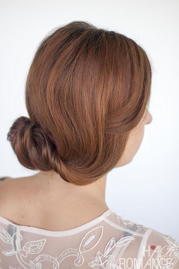 Hair Romance - Rolled chignon hair tutorial