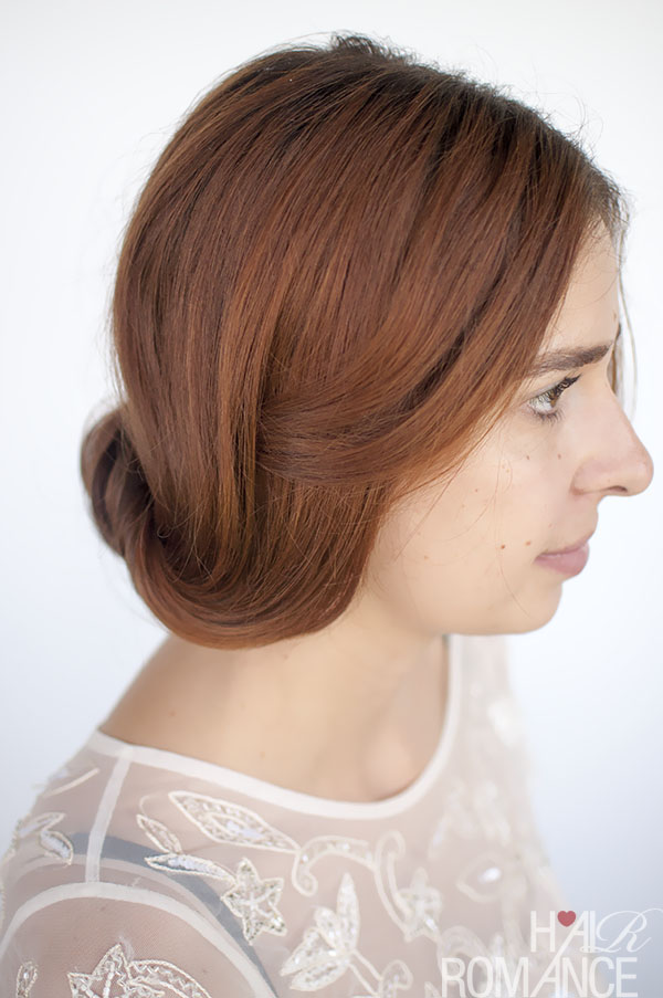 Hair Romance - Rolled chignon updo