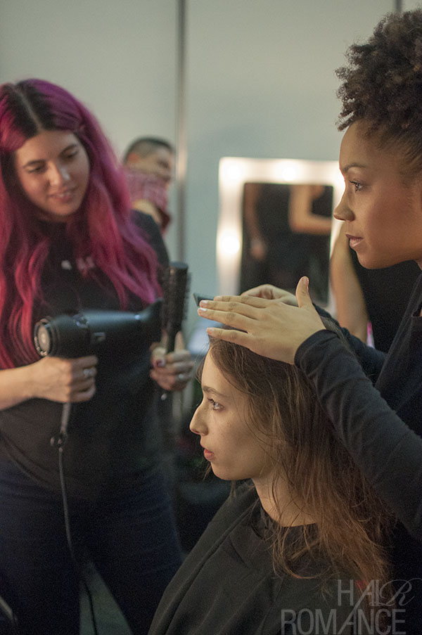 Hair Romance - Scenes from MBFWA 2014 Day 2 - Backstage hair at Christopher Esber