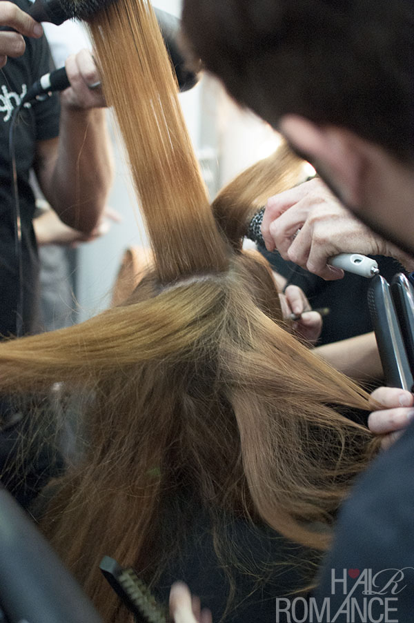 Hair Romance - Scenes from MBFWA 2014 Day 2 - Backstage hair at Maticevski