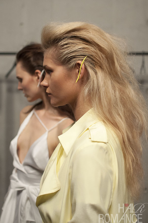 Hair Romance - Scenes from MBFWA 2014 Day 2 - Love these earpieces at Michael Lo Sordo