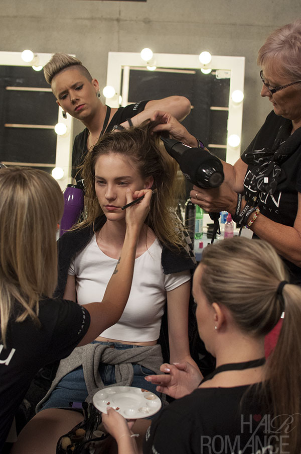 Hair Romance - Scenes from MBFWA 2014 Day 2 - Quick changes for the models backstage
