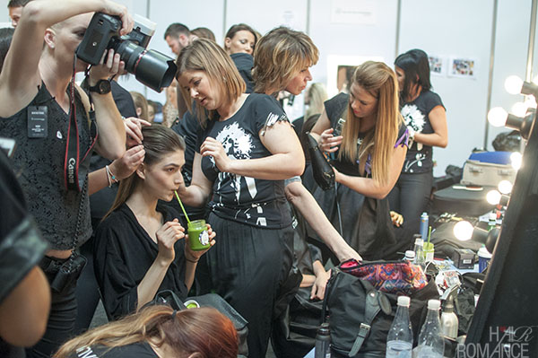 Hair Romance - Scenes from MBFWA 2014 Day 3 - Backstage action at Suboo