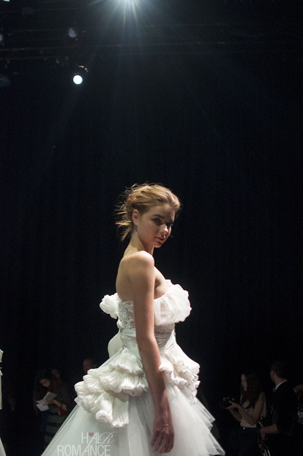 Hair Romance - Scenes from MBFWA 2014 Day 3 - Couture wedding gowns at Lan Yu