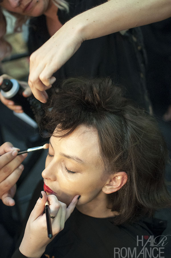 Hair Romance - Scenes from MBFWA 2014 Day 4 - Backstage at Hayley Elsaesser