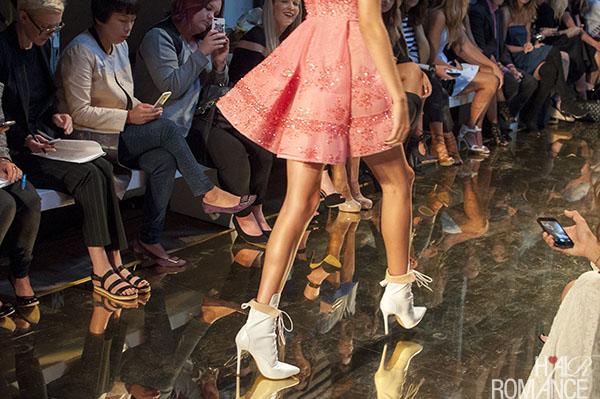 Hair Romance - gold runway at Alex Perry MBFWA