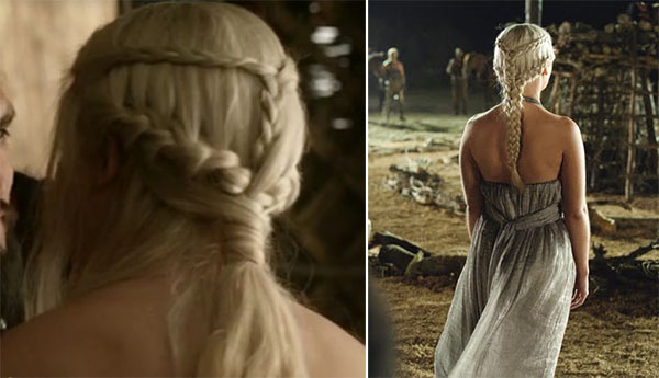 Game of Thrones hairstyle - Khaleesi Daenarys Targaryen braids