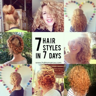 7 hairstyles in 7 days