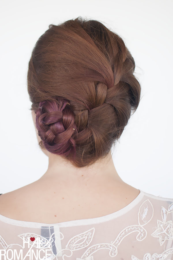 Hair Romance - French braid bun hair style
