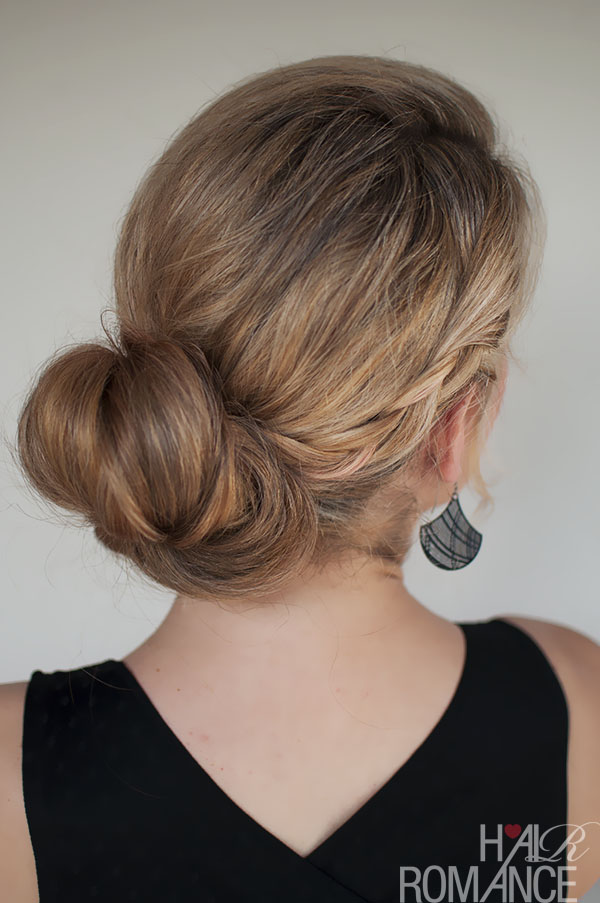 Hair Romance - double braid bun hair style tutorial