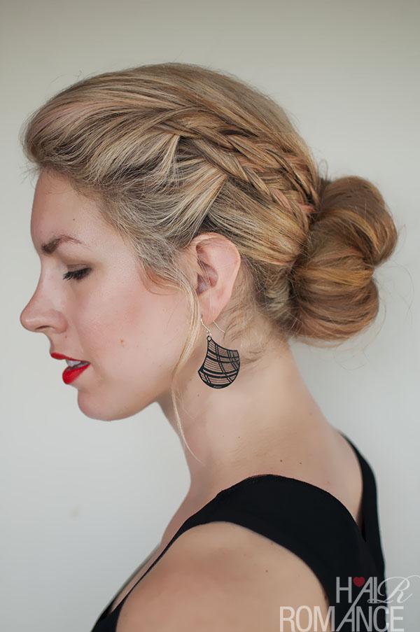 Hair Romance - double braid bun hairstyle