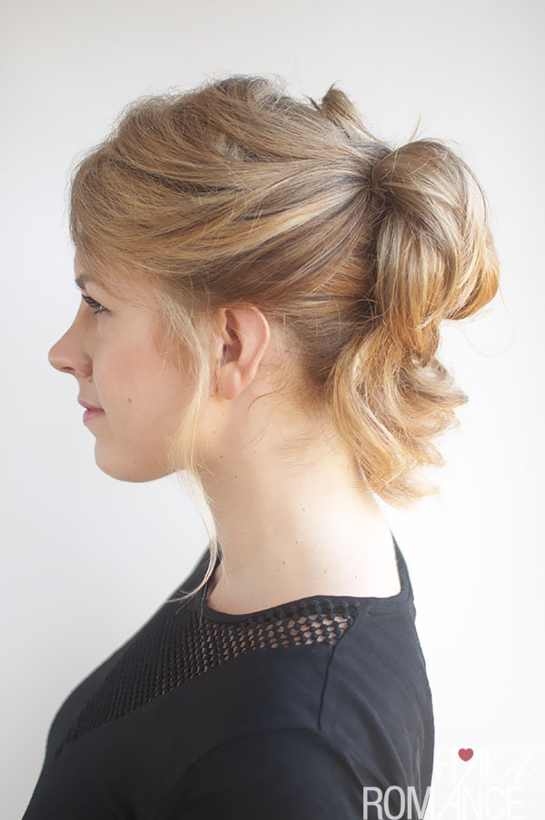 Hair Romance - pinned up pony tail