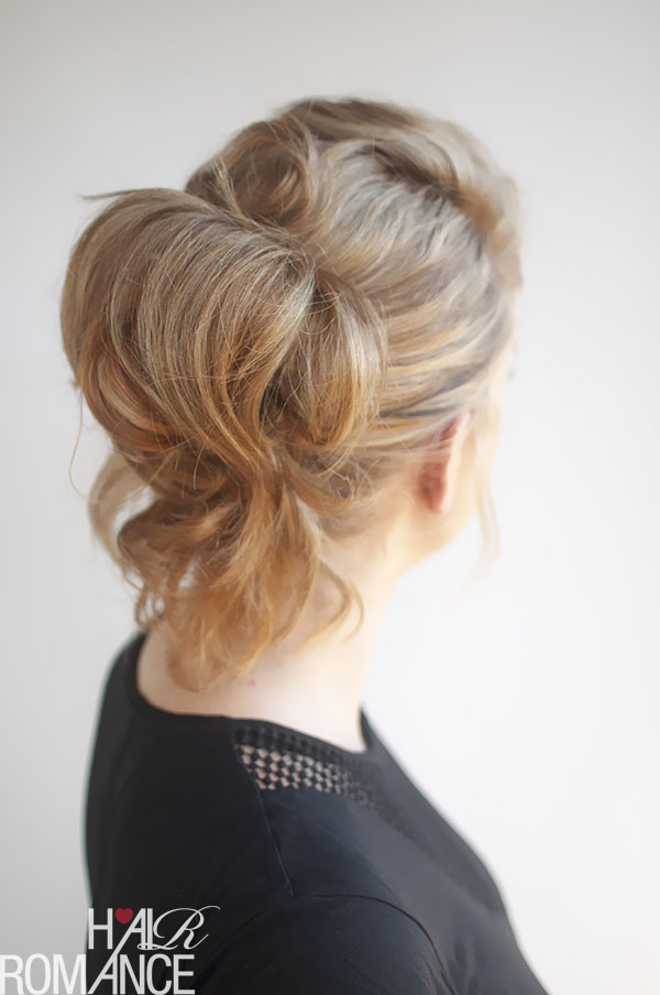 Hair Romance - pinned up ponytail hair tutorial