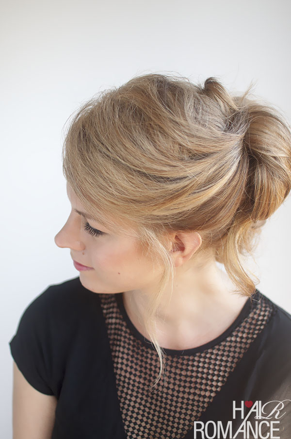 Hair Romance - pinned up ponytail hairstyke tutorial