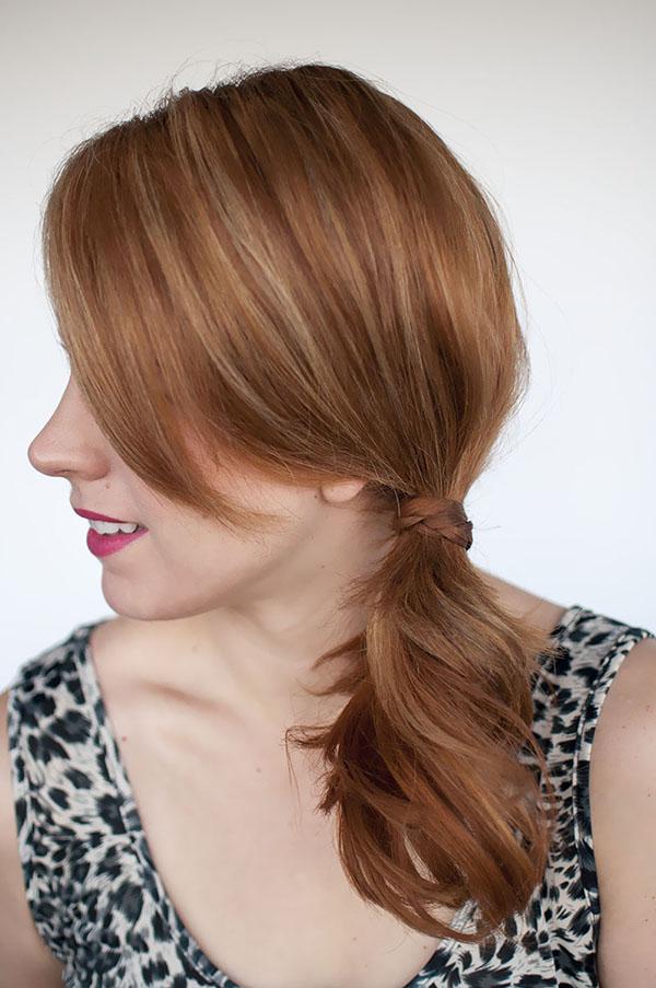 Hair Romance - braid wrap ponytail hairstyle