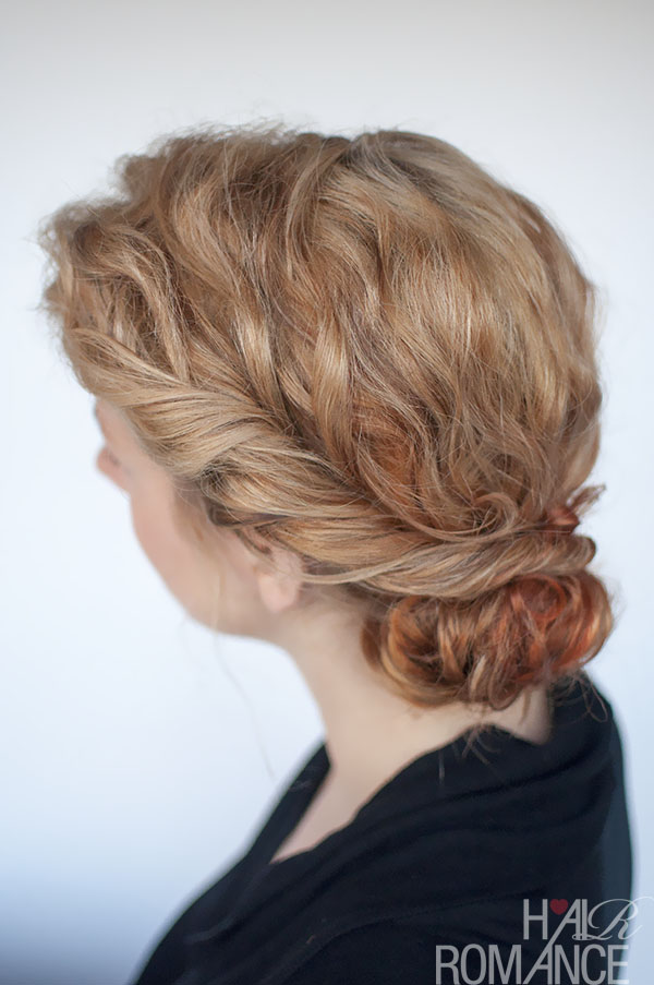 Hair Romance - curly bun and twist hairstyle tutorial
