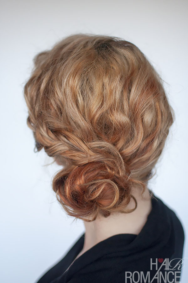 Curly Bun Hairstyle Tutorial Two Ways Hair Romance